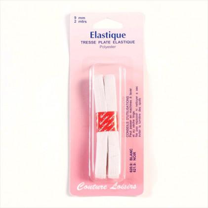 Elastique 9 mm Blanc