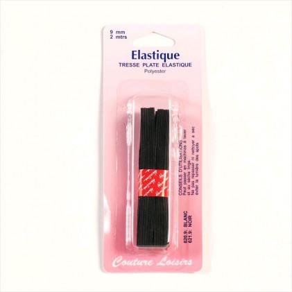 Elastique 9 mm Noir