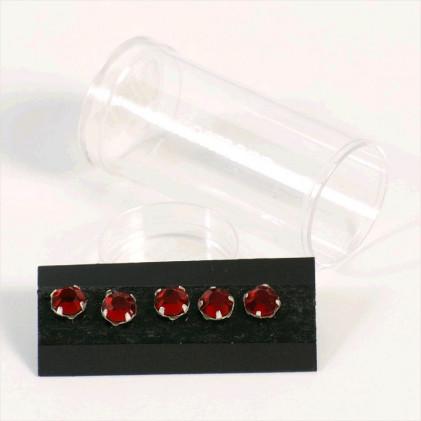 Cristaux à coudre  7 mm Rouge