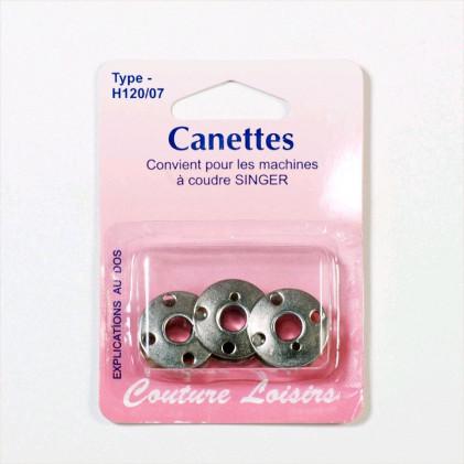Canettes métal pour Singer