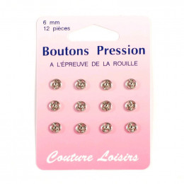 Boutons pression métal 6 mm