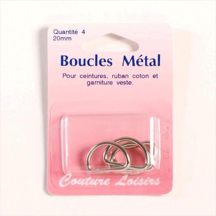 Boucles métal 20 mm Gris argent