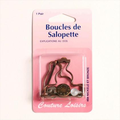 Boucles pour salopette Marron bronze