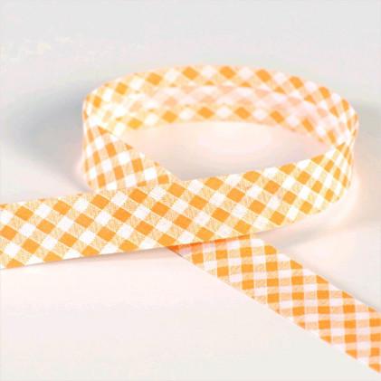 Biais Vichy Orange