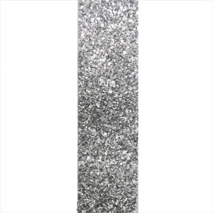Bande de ruban à paillettes 50 mm  Gris argent