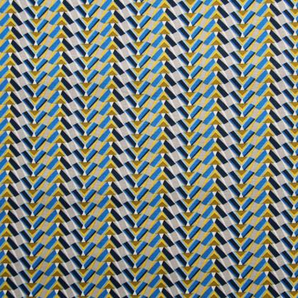 Tissu coton imprimé Pharaon  Bleu