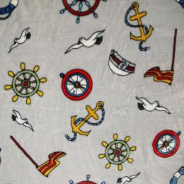 Tissu doudou Minkee Sailor