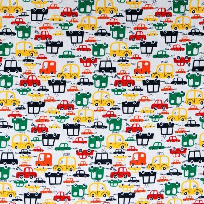 Tissu coton imprimé Oeko-Tex Vroum