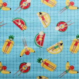 Tissu coton enduit Oeko-Tex Pool