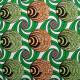 Tissu coton imprimé Wax Syra Vert