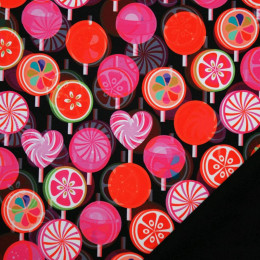 Tissu softshell-polaire Lollipop