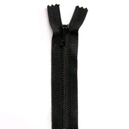 Fermeture Eclair métallique spéciale pantalon non séparable 12 cm Noir