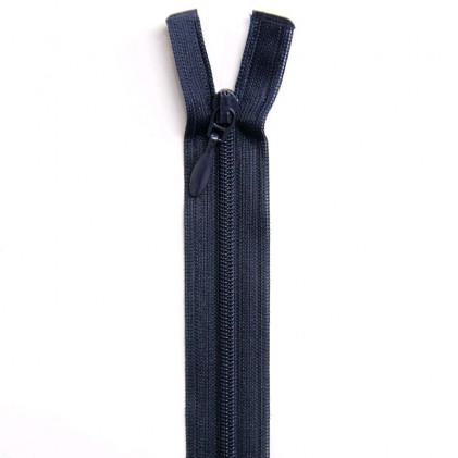 Fermeture Eclair nylon séparable 30 cm Bleu marine