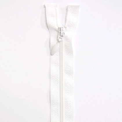 Fermeture Eclair nylon séparable 35 cm Blanc