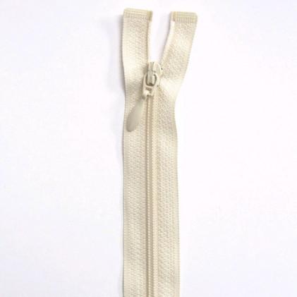 Fermeture Eclair nylon séparable 35 cm Blanc cassé