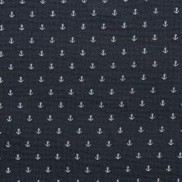 Tissu double gaze de coton Oeko-Tex Anchor