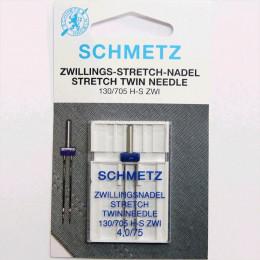 Aiguille double stretch SCHMETZ 4mm