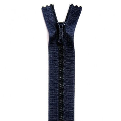 Fermeture Eclair métallique spéciale pantalon non séparable 10 cm Bleu marine