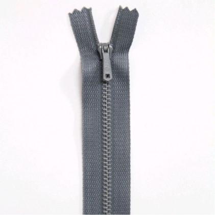 Fermeture Eclair métallique spéciale pantalon non séparable 10 cm Gris