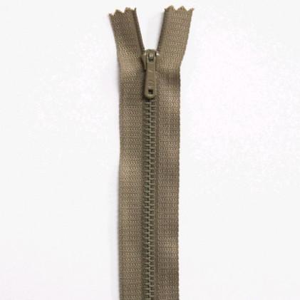 Fermeture Eclair métallique spéciale pantalon non séparable 15 cm Beige chamois