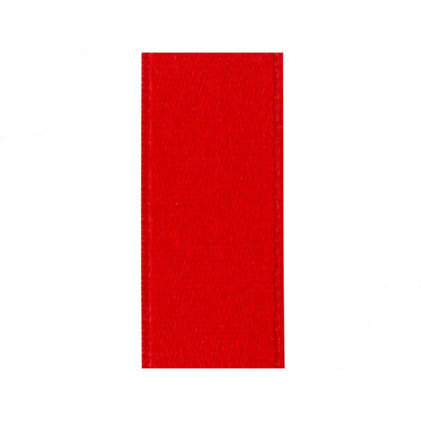 Ruban satin 25 mm   . Rouge coquelicot