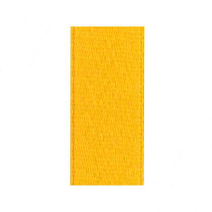 Ruban satin 25 mm   . Jaune bouton d'or
