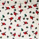 Tissu coton Noël Oiseaux