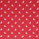 Tissu coton imprimé Mouette Rouge