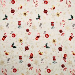 Tissu coton Noël Oizo
