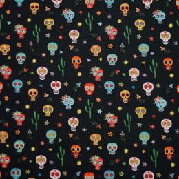 Tissu cotOon Halloween Oeko-Tex Calavera