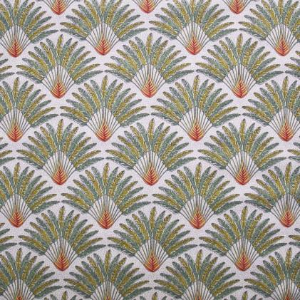 Tissu coton imprimé Oeko-Tex Madagascar  Ecru