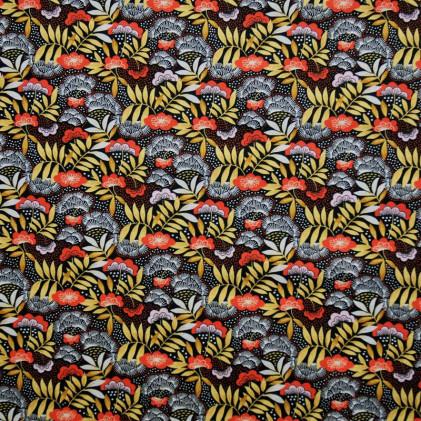 Tissu coton imprimé Oeko-Tex Nagoya  Rouille