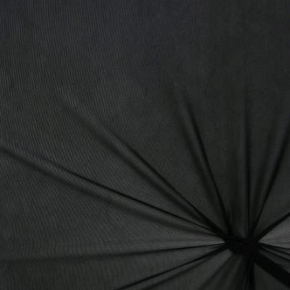 Tissu résille maille extensible Penny  Noir