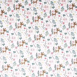 Tissu coton imprimé Oeko-Tex Faon