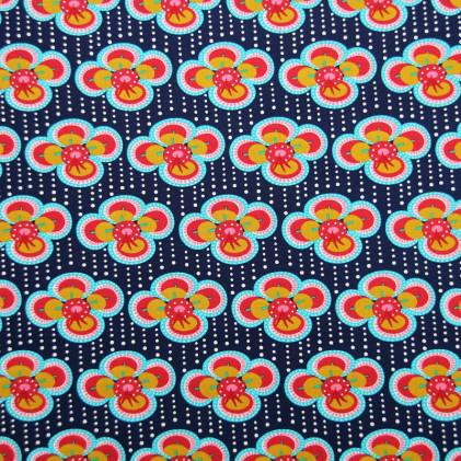 Tissu coton imprimé Oeko-Tex Clovy
