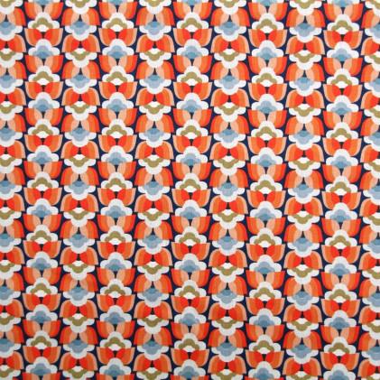 Tissu coton imprimé Oeko-Tex Donna  Rouge