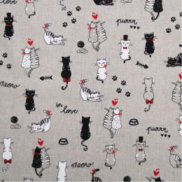Tissu lin Oeko-Tex Cats