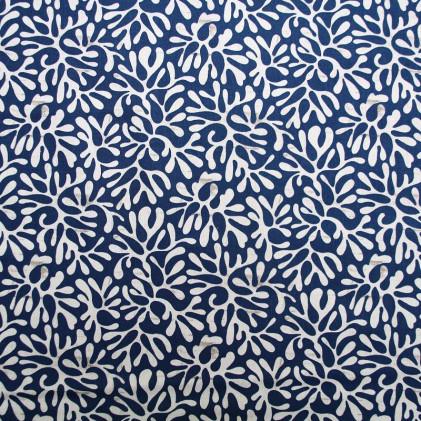 Tissu coton imprimé Oeko-Tex Atlantik Bleu marine