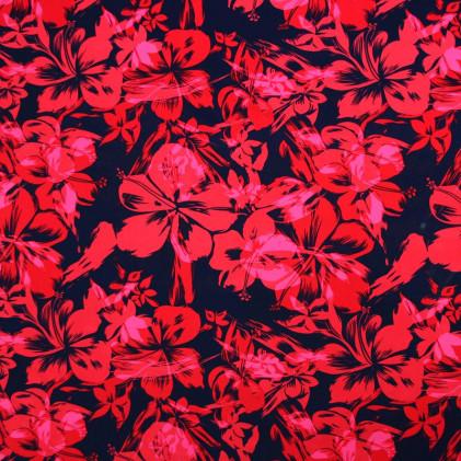 Tissu lycra Tropikana Rouge