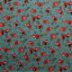 Tissu coton imprimé Oeko-Tex Red Panda Bleu