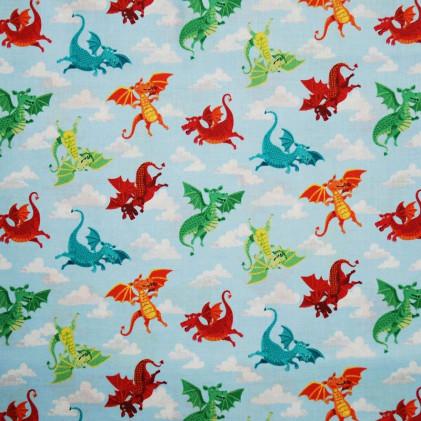 Tissu patchwork dragonheart Bleu / couleurs
