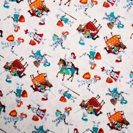 Tissu patchwork chevaliers