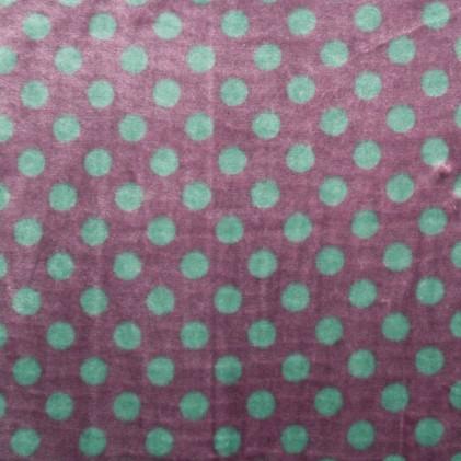 Tissu doudou Minkee Pox Violet / Vert