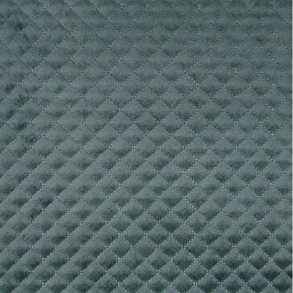 Tissu velours matelassé Baryton  Bleu gris