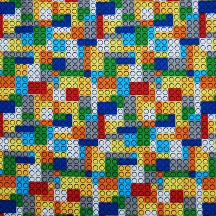 Tissu coton œko-tex imprimé Légo build