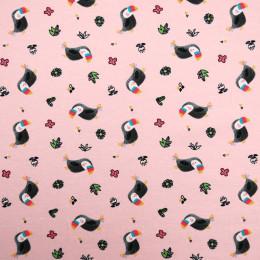 Tissu jersey toucans