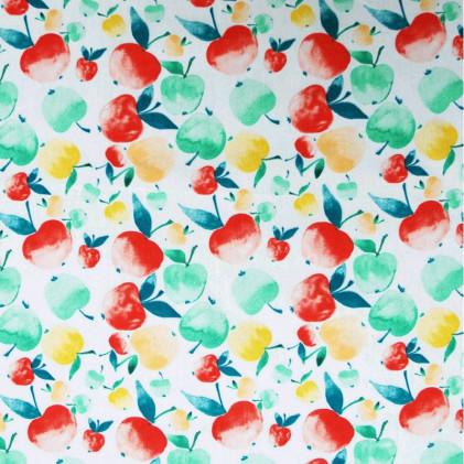 Tissu coton imprimé Pomme Multi