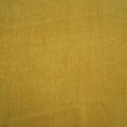 Tissu velours milleraies Oeko-Tex Keith    Jaune moutarde