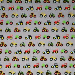 Tissu coton gratté œko-tex imprimé tracks