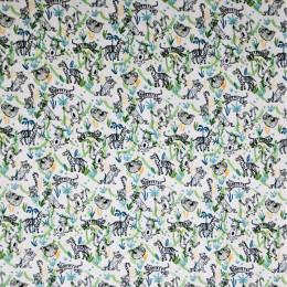 Tissu coton imprimé mini jungle